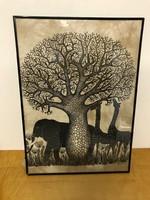 Heidi Lange modern Kenya vászon kép