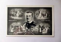 A kormányzó 75.-ik születésnapjára kiadott képeslap. ( 1943. 06. 18. )