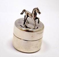 Lovas ezüst fogtartó dobozka (ZAL-BI40178)