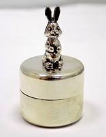 Nyuszis ezüst fogtartó dobozka (ZAL-BI40177)