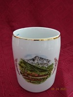 LILIEN porcelán Ausztria, sörös korsó, Admont felirattal és látképpel.