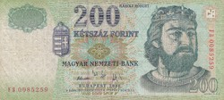 200 forint bankjegy 2006 FB