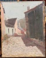 100 éves festmény a Tabánról