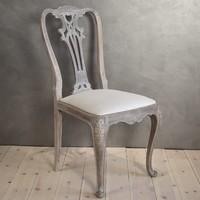 Chippendale szék, faragott támlás, vintage stílusú étkezőszék