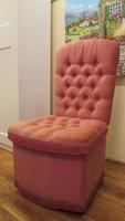 Gurulós bársony szék tároló rekesszel gyönyörű- hálószobába, fésülködő asztalhoz!