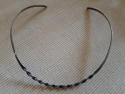 925-ös ezüst csavart merev nyakék, 19 g