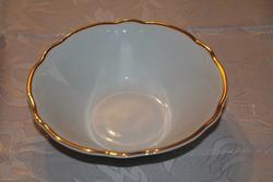 Royal aranyozott dombormintás fehér porcelán kínáló