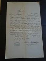 ZA313.1  Régi irat   SOPRON - Ödenburg- 1876  Moritz Kolbenheyer - Johanna Taborsky von Hirschfeld