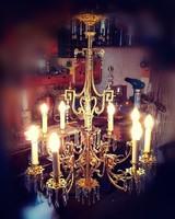 18. századi bronz /kristály csillár! 100 cm magas, 8 ágú gyönyörűen díszített, visszafogott darab!