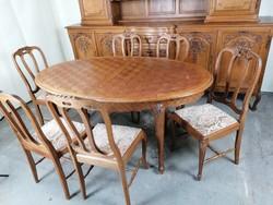 neobarokk tálaló asztal szék