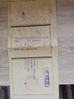 Gyűjtőknek/ 1958. évi előfizetési csekk kitűnő állapotban