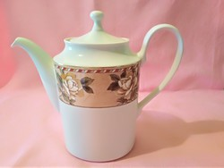 ÁK04 Gyönyörű  rózsa mintás aranyozott szélű Rosenthal tea kávé kiöntő kanna