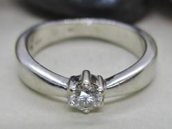 Szépséges 0.20ct brill  14kt fehérarany gyűrű