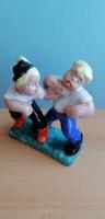Komlós testvérek kerámia figura
