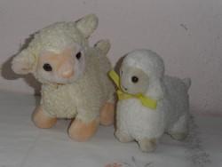 Régebbi plüss játék, bárány ( 2 db.)