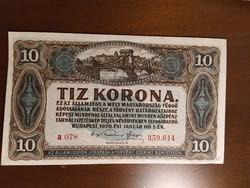 10 Korona 1920 bankjegy