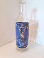 Retro Hubertus palack címkés likőrös üveg Unicum Likőrgyár