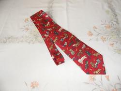 Savethe Children kutyás selyem nyakkendő