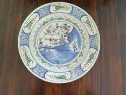 1750 körüli Delft tál kínai mintával / 18th c. Delft Charger