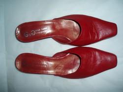 MODA SERENA olasz piros bőr papucs
