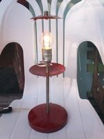 Retro különleges súlyos asztali lámpa, búra nélkül