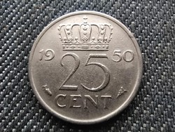 Hollandia I. Julianna (1948-1980) 25 Cent 1950 (id30925)