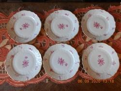 Hutschenreuther német porcelán süteményes tányér 6 db