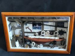 Amerika kupa - hajó modell