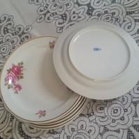 Zsolnay:Ritka, rózsás, szendvicses tányér, 6 db