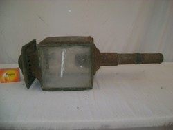 Antik hintó, lovas kocsi vagy kerékpár gyertyás lámpa