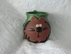 Macskás kézműves bögre