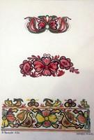 Benczúr Ida :Felvidéki himzés. Akvarell  mintaterv