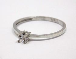 Fehér arany köves gyűrű (ZAL-Au91989)