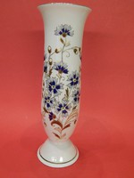 Zsolnay búzavirágos talpas váza