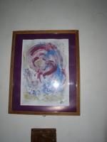 Swierkiewicz Róbert, Cím nélkül, akvarell-guache , papír, 42 x 30 cm belső méret