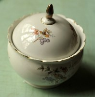 Antique Hollohazi porcelan-cukortarto