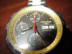 Longines automatic kronométer, titán tok, titán szíj + arany betét 18 k