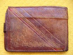 Retro bőr pénztárca