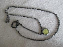 Antikizáló nyaklánc ékszeróra-utánzat függővel