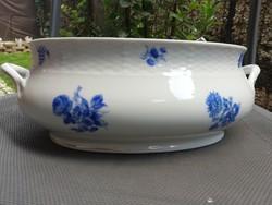 Meissen-i  nagy kék virágos 2,5 literes tál