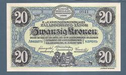 20 Korona Zalaegerszeg ( ZAE- 8a ) aUNC - UNC Sorozat és sorszámmal
