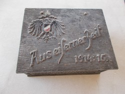WW1,Ritka doboz,1914-16...130x100x50 mm