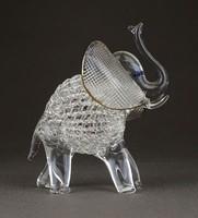 1B781 Hibátlan Muránói fújt üveg elefánt dísztárgy
