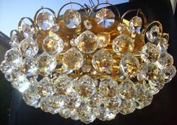 Bécsi Lobmeyr kristálycsillár 7égős 70-es évek valódi kristály csillár