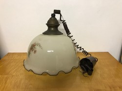Jugendstil szecessziós nagyméretű üveg búrás lámpa csillár