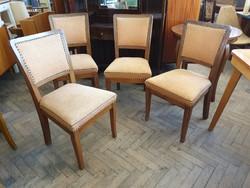 Kárpitozott 4 db vintage régi art deco étkezőszék szék