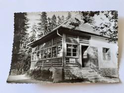 Régi képeslap 1960 Fehérkőlápai turistaház