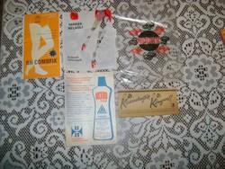 Retro vegyes papír - csomagolás, reklám, stb. öt darab