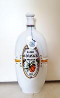 Hollóházi porcelán pálinkás üveg Várdai Ó-barack dugós palack kulacs butykos 25 cm