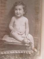 Antik művészi fotó, gyermekfotó 1919-ből, Goszleth és fia műterméből